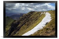 The top of Helvellyn, Framed Print