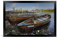 Rowing Boats on Derwent Water, Framed Print