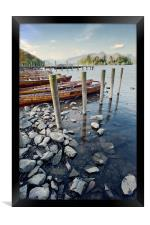 Boats and Poles on Derwent Water, Framed Print