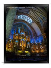 Montreal Cathedral interior, Framed Print