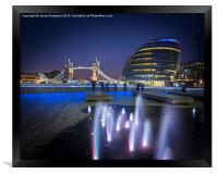 Tower Bridge and City Hall, Framed Print