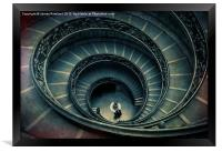 Vatican stairs, Framed Print