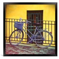 Purple Bike, Framed Print