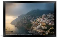 Clouds Over Positano, Framed Print