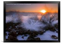 Sunrise Explosion, Framed Print