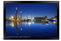 Reflections at Freemantle Harbour, Framed Print