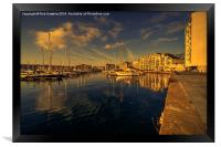 Plymouth Barbican Marina , Framed Print