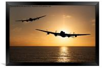 Lancaster Bombers at Sunset, Framed Print