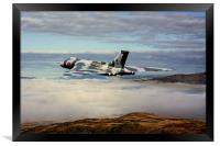 Vulcan XH558 over Snowdonia, Framed Print