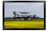 Vulcan XH558 and BBMF Lancaster, Framed Print