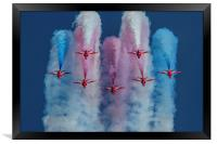 Red Arrows roll out, Framed Print