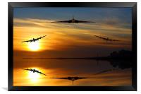 Vulcan and Lancasters sunset, Framed Print