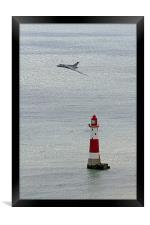 Vulcan XH558 and the Lighthouse, Framed Print