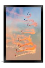 RAF Falcons Parachute team, Framed Print