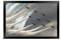 Red Arrows 3, Framed Print