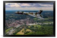 Vulcan XH558 over Henley, Framed Print
