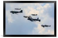 BBMF Trenchard Plus Formation, Framed Print