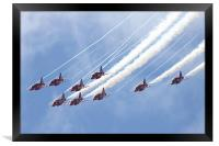 The Red Arrows, Framed Print