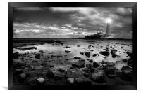 St. Mary's Lighthouse, Framed Print