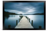Jetty on Coniston Water., Framed Print