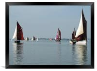 Maldon Barge Match 2008, Framed Print