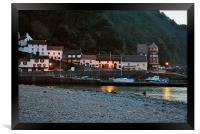 Lynmouth Harbour at Dusk, Framed Print