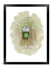 The Lynton and Lynmouth Cliff Railway, Framed Print