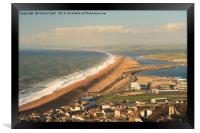 Large Waves Along Chesil Beach, Framed Print
