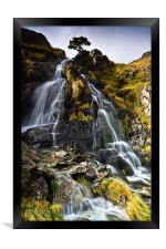 Dovedale Cascade, Cumbria. UK, Framed Print