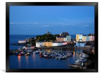 Tenby Harbour-Pembrokeshire-Wales., Framed Print