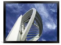 Spinnaker Tower - Close side view, Framed Print