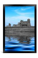 Whitby Abbey Isolation, Framed Print