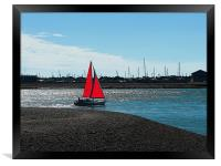 Red Sail, Framed Print