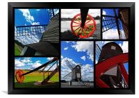 Pitstone Windmill - Collage, Framed Print