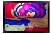 Hot air balloon inflation, Framed Print