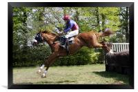 Point to Point horse race, Framed Print