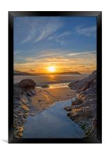 Polzeath Sunset, Framed Print