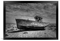 Dungeness Boat Days gone By, Framed Print