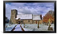 St Margarets in Wintertime, Framed Print