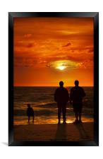 Watching the sunset at Lonstrup, Framed Print