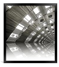 airport reflections, Framed Print
