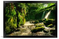Waterfall on Vennford Brook, Framed Print