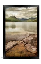 Artistic view of Wastwater in Lake District, Framed Print