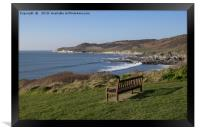 Morte point from near Woolacombe, Framed Print