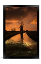 Horsey Mill At the End Of The Day, Framed Print