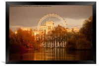 St. James's Park and the London Eye, Framed Print