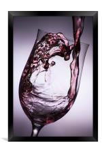 Pouring wine, Framed Print