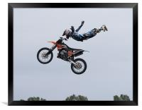 Freestyle stunt show, Framed Print