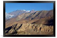 Scenery from Road to Jomsom, Framed Print