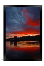 Burning scottish sky , Framed Print